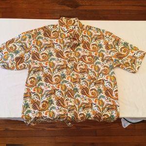 Alan Flusser Colorful Short Sleeve Button Down